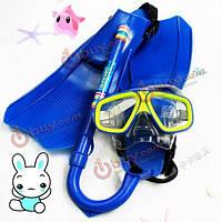 Детский набор для плавания: плавательная маска, трубка, ласты
