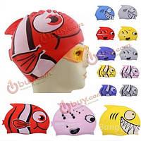 Детская силиконовая шапочка для плавания Рыбка