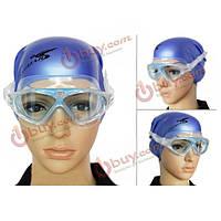 Очки-маска плавательные для взрослых УФ защита антифог