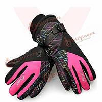 Женщины теплые непромокаемые перчатки лыжные луч манжеты перчатки лыжные перчатки водонепроницаемый мотоцикл