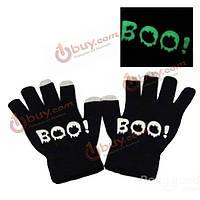 Световой сенсорный экран трикотажные теплые перчатки емкостный экран перчатки