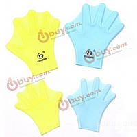 Перчатки перепончатые плавательные силиконовые