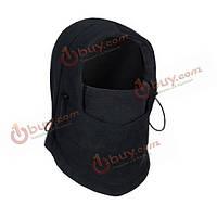 Флисовая двусторонняя езда катание на лыжах шапки для cs шапки маску для лица черный серый