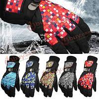 Женские лыжные перчатки защитные морозостойкие