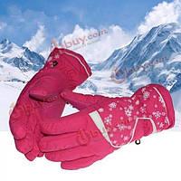 Женщины катаются на лыжах зима перчаток водонепроницаемые перчатки теплые перчатки