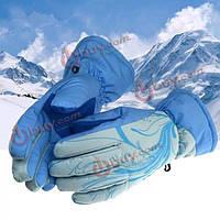 Зима женщины теплые перчатки водонепроницаемые лыжные перчатки наружные ветронепроницаемые перчатки