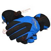 Женщины на открытом воздухе водонепроницаемый ветрозащитный теплые перчатки лыжные - серый синий красный