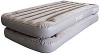 Кровать надувная Intex велюровая серии Deluxe Pillow Rest Raised Bed 2в1,  67743