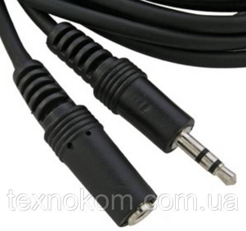 Подовжувач Jack 3.5 для навушників 1 метр, стерео штекер 3,5 на стерео гніздо 3,5