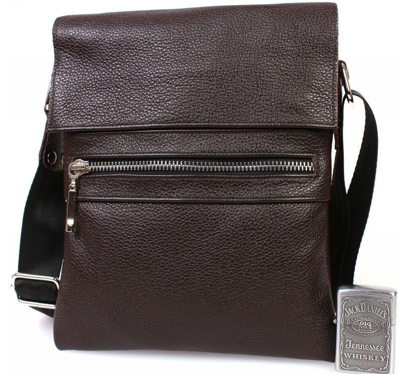 f27c2902a133 Мужская сумка формата А5 Alvi av-96brown коричневая — только ...