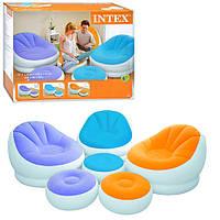 Велюровое кресло надувное овальное Intex 68572, фото 1