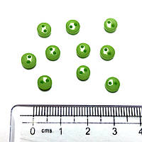 Пуговицы мини, 6 мм, 10 шт, САЛАТОВЫЕ