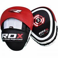 Лапы боксерские RDX Gel Focus Red изогнутые кожа арт. 11001