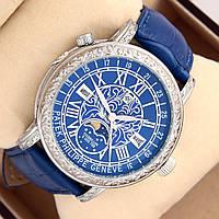 Мужские кварцевые наручные часы Patek Philippe Grand Complications Sky Moon Tourbillon на кожаном ремешке, фото 1