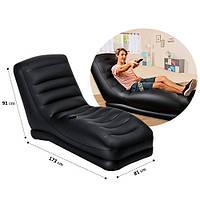 Велюровое кресло надувное шезлонг Intex 68585