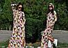 Платье женское в пол с капюшоном, фото 2