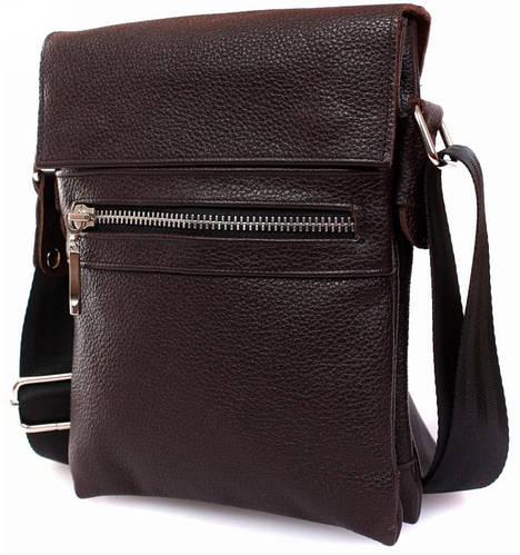 Мужская кожаная сумка из натуральной кожи для документов Alvi av-95brown коричневый