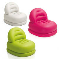 Велюровое кресло надувное круглое Intex 68592