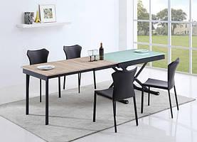 Стекляно-деревянный стол Maestro