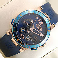 Мужские механические наручные часы Ulysse Nardin El Toro на каучуковом ремешке