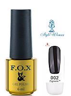 Fox Gel Polish Фокс гель лак 6 мл №002