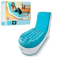 Велюрове крісло-шезлонг надувний Intex 68880, фото 1