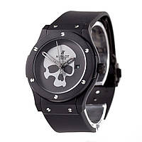Мужские (Женские) механические наручные часы Hublot Skull Bang на каучуковом ремешке, фото 1