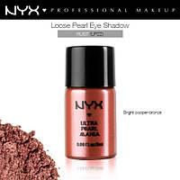 Рассыпчатые тени-пигменты NYX LOOSE PEARL EYE SHADOW  Rust rouille