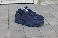 Мужские кроссовки найк хуарачи спортивные беговые кросівки чоловічі обувь для бега темно-синие 2016