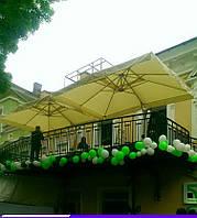 Эксель 3*4, зонт для кафе, зонт для сада, зонт для бассейна, зонт для пляжа, деревянный зонт