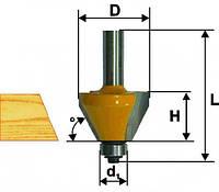 Фреза кромочная конусная ф25.4х21, 22.5°, хв.8мм (арт.9233), фото 1