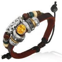 Серферский браслет со шнурком и камнем FWL846