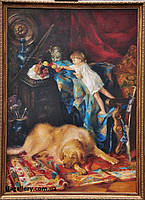 Копия картины К.Маковского «В мастерской художника»