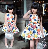 Детско платье - Букет из роз