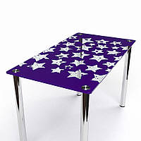 Стол стеклянный обеденный Звезды 910x610*Эко