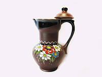 Молочник глиняный Поляна (С росписью Поляна)