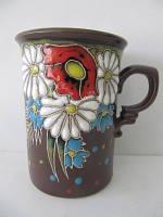 Чашка глиняная большая Поляна (С росписью Поляна)