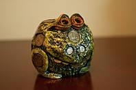 Денежная жабка  - подарочный сувенир из соленого теста