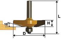 Фреза фигирейная горизонтальная ф41.3х13, хв.8мм (арт.10581)