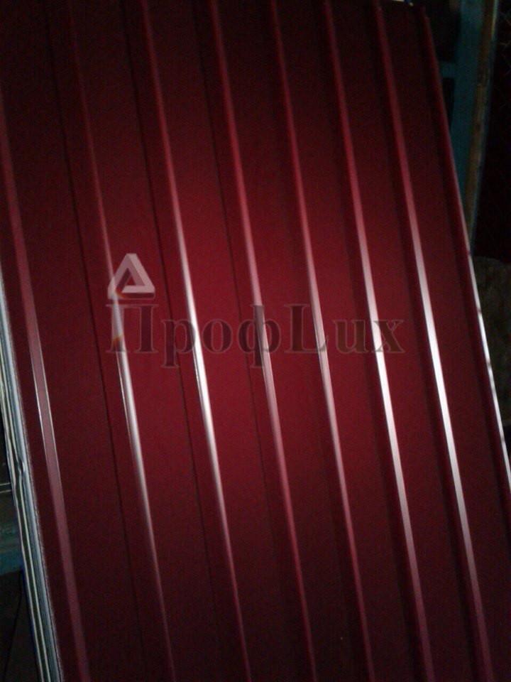 Некондиция профнастил С-10 красный (3005)