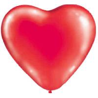 """Куля повітряна серце 10"""" пастель червоне"""