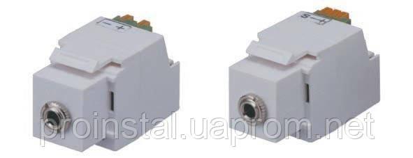 модуль keystone мини джек 3,5mm stereo-клемная колодка