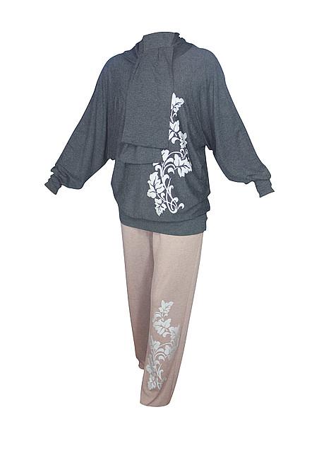 Женский брючный костюм Лоза,брюки+мышка
