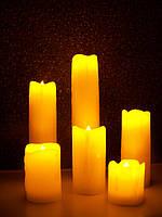 Набор светодиодных свечей в парафиновых корпусах