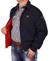 Куртка мужская Paul Shark-046 красная,большого размера 66-68