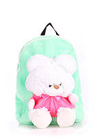 Детский рюкзак PoolParty (kiddy-backpack-teddybear-green), фото 1