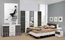Кровать Круиз 160 2сп 875х1642х2042мм белый + дакар Світ Меблів, фото 3