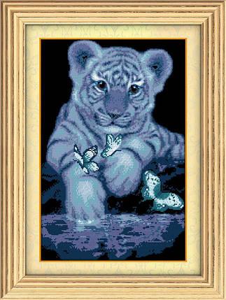 """Набор алмазной живописи """"Белый тигренок"""", фото 2"""