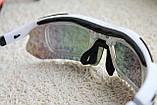 Велосипедные очки  White  с поляризационным покрытием, фото 4