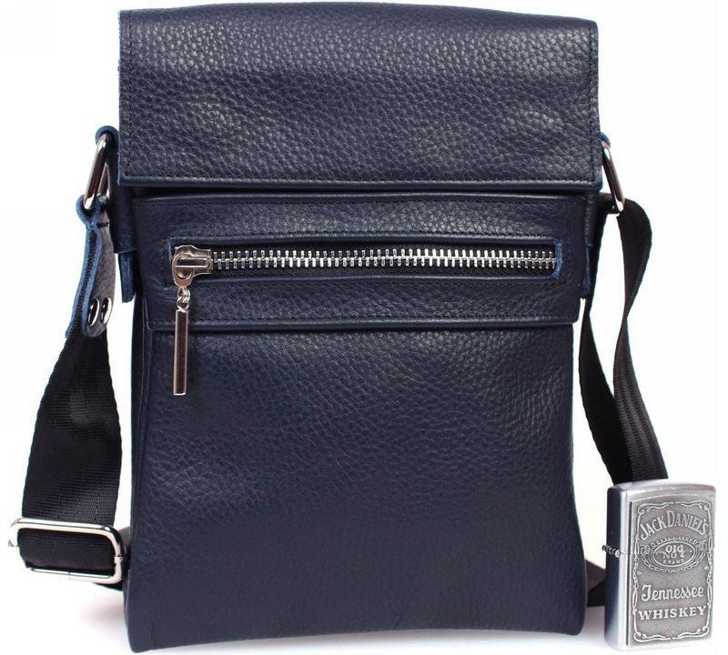 027c4e7ab21f Мужская кожаная сумка для документов, синяя Alvi av-95blue — только ...